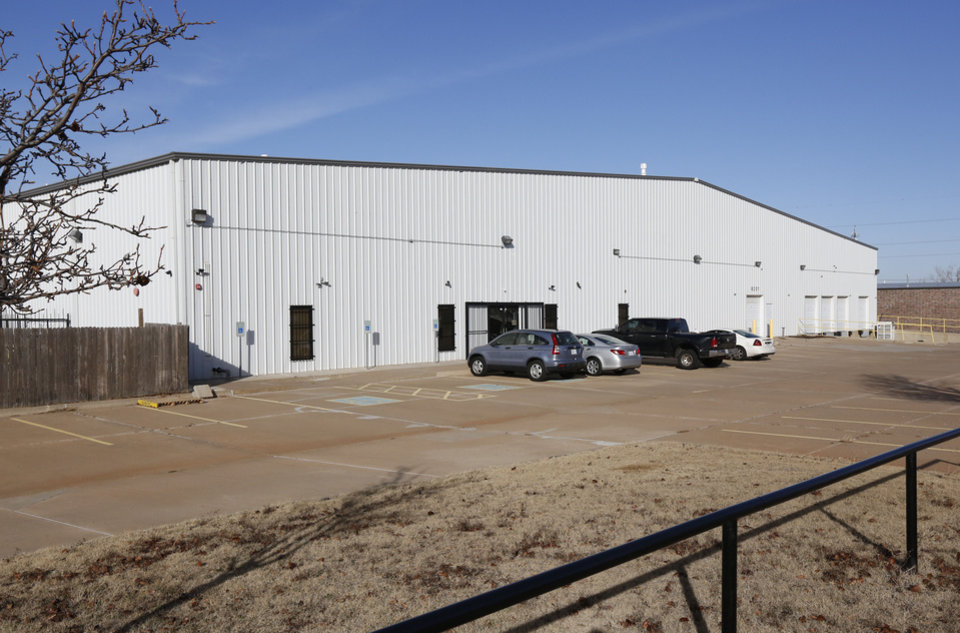 Photo -  This warehouse at 8201 Glade Ave. in Oklahoma City was subject to a federal drug raid in 2015. It is believed to house the online business VP Distributions. [Photo by Paul Hellstern, The Oklahoman]