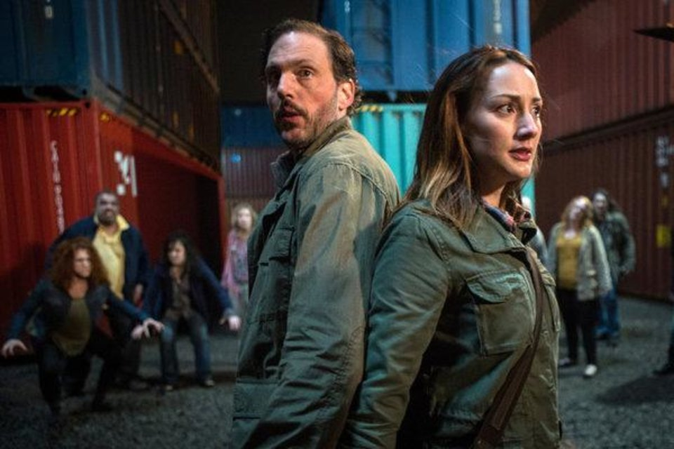 """Photo -  Silas Weir Mitchell and Bree Turner are shown in a scene from """"Goodnight, Sweet Grimm."""" - Photo by: Scott Green/NBC"""