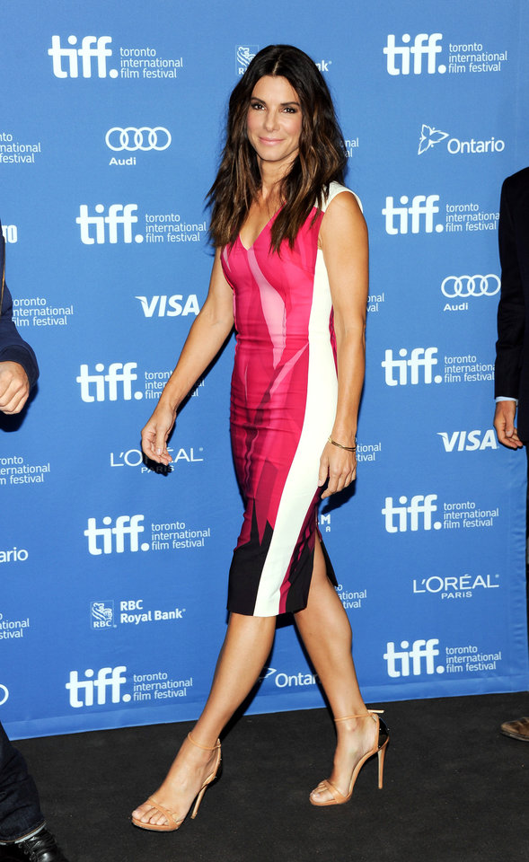 "Actress Sandra Bullock attends the press conference for ""Gravity"" on day 5 of the 2013 Toronto International Film Festival at the TIFF Bell Lightbox on Monday, Sept. 9, 2013 in Toronto. (Photo by Evan Agostini/Invision/AP) ORG XMIT: TOEA101"