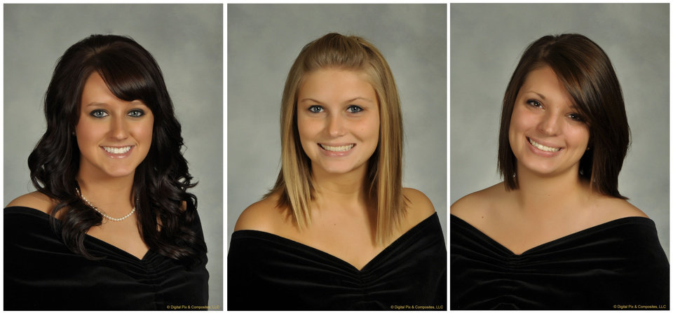 Photo -   In this undated combination photo released by Bowling Green State University, shown from left is, Sarah Hammond, 21, a junior from Yellow Springs, Ohio, Rebekah Blakkolb, 20, a junior from Aurora, Ohio, and Christina Goyett, 19, a sophomore from Bay City, Mich. The three sorority sisters were killed in an automobile accident on Friday, March 2, 2012. (AP Photo/Bowling Green State University)