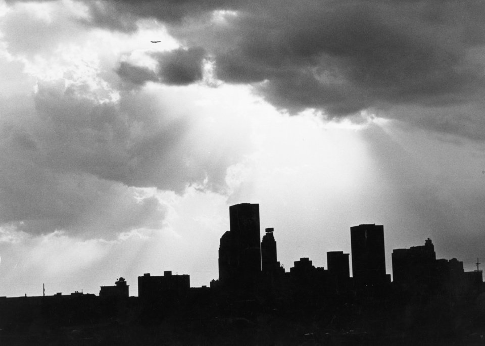 OKLAHOMA CITY / SKY LINE / OKLAHOMA:  No caption.  Staff photo by Paul B. Southerland.  Photo dated 06/18/1984 and unpublished.  Photo arrived in library 06/19/1984.