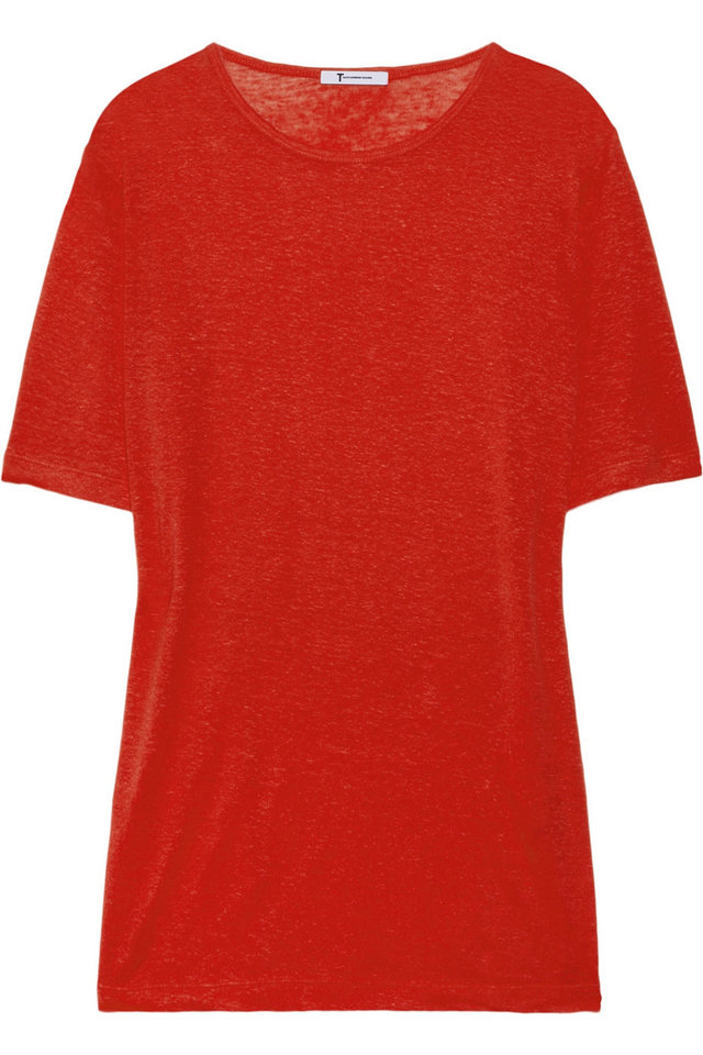Photo - A few chic ways to accessorize this Fourth of July include this tee By Alexander Wang linen and silk-blended slub-jersey T-shirt, $98. (Courtesy Net-a-porter.com via Los Angeles/MCT)