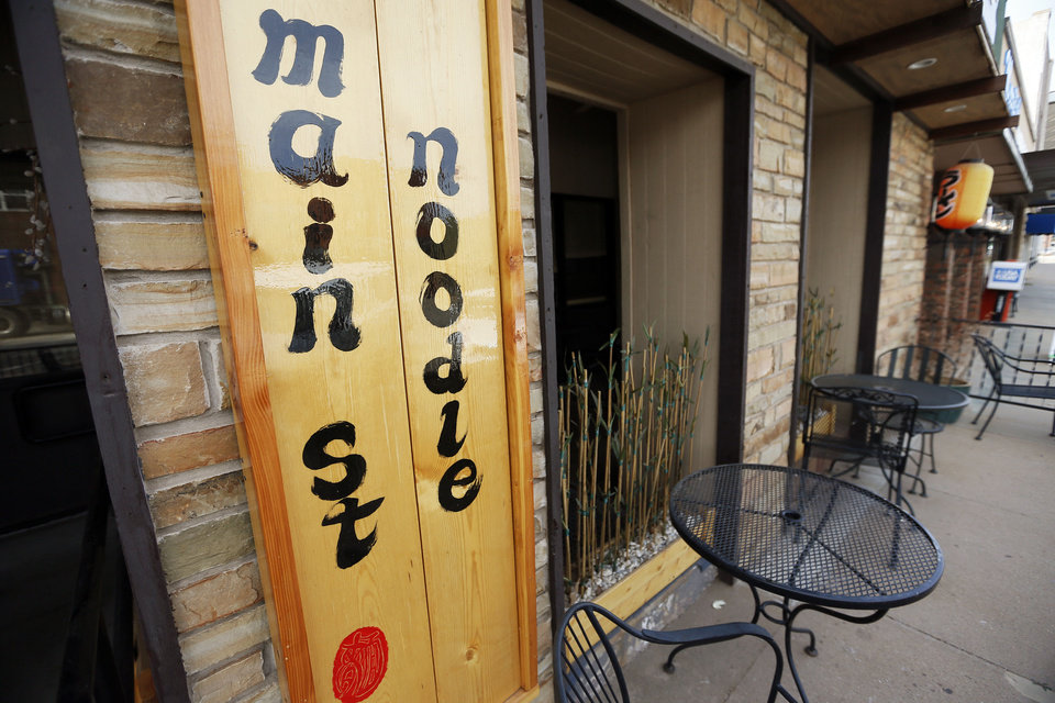 Photo - The exterior of Main Street Noodle, 622 S Main St., in Stillwater.  NATE BILLINGS - NATE BILLINGS