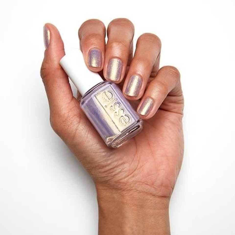 Photo - Essie Sugarplum Fairytale, a vibrant lavender with glistening gold pearl.