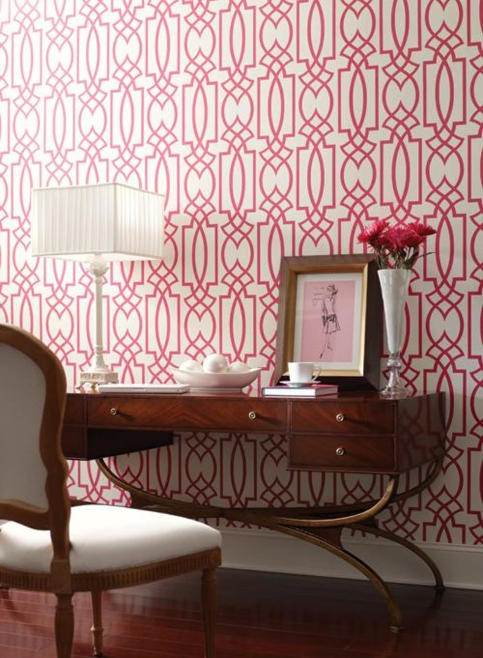 "Graphic design ""Grata""  wallpaper by Seabrook Wallcoverings. Photo provided. <strong></strong>"