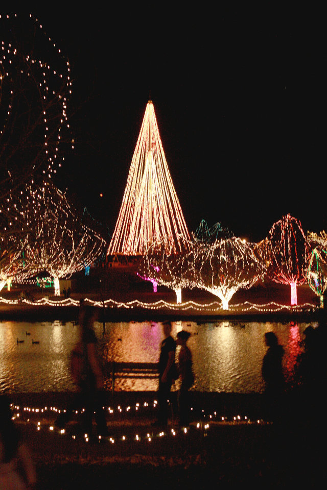 Photo - Shown is The Festival of Light in Chickasha.  PROVIDED - Photo Provided by The Express-St
