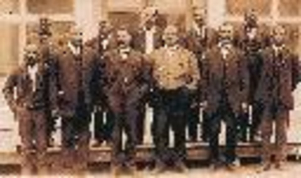 A historic photo of members of the town council of a once-thriving Boley. PHOTO PROVIDED  <strong></strong>