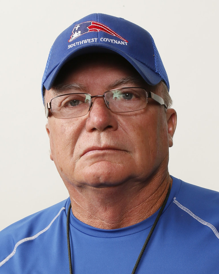Photo - Bill Martin, Southwest Covenant football coach, poses for a mug shot during The Oklahoman's Fall High School Sports Photo Day in Oklahoma City, Wednesday, Aug. 15, 2012. Photo by Nate Billings, The Oklahoman