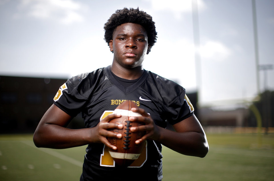 Photo - Midwest City's Jacobi Johnson poses for a photograph at Midwest City High School in Midwest City, Okla., Thursday, June 27, 2019. [Sarah Phipps/The Oklahoman]