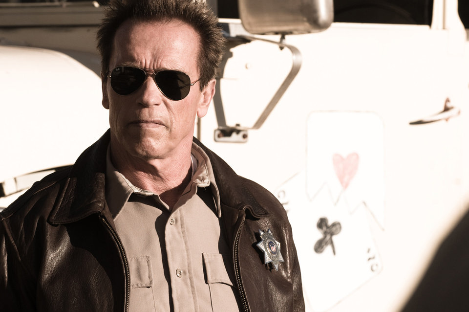 FILE - This publicity film image released by Lionsgate shows Arnold Schwarzenegger in a scene from,