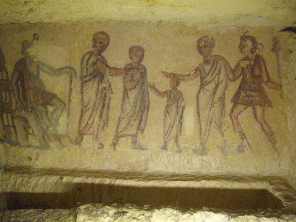 Photo - A painting in an Etruscan tomb. PHOTO PROVIDED