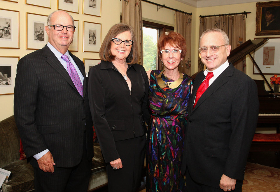 Photo - Ed Barth, Elaine Levy, Annie Bohanon, John Krasno.  PHOTO BY DAVID FAYTINGER, FOR THE OKLAHOMAN