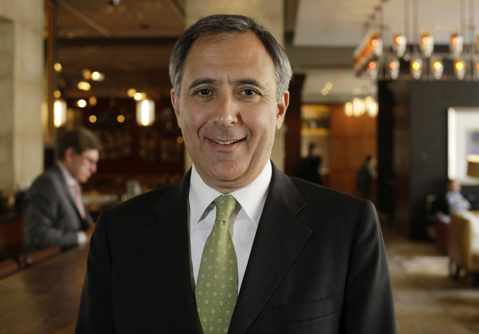 Photo - In this Tuesday, June 3, 2014 photo, InterContinental Hotels Group CEO Richard Solomons poses for a photo, in New York. The InterContinental group now has more than 4,700 hotels and another 1,100 under development. (AP Photo/Frank Franklin II)