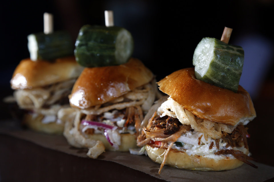 Photo - Sliders are pictured at the Whiskey Cake Kitchen and Bar in Oklahoma City, Thursday, July 3, 2014. Photo by Sarah Phipps, The Oklahoman