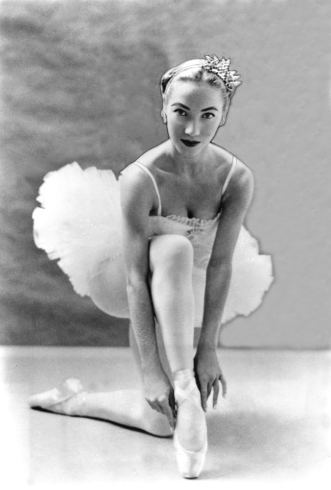 Photo - Photo of ballerina Yvonne Chouteau used with a 7/11/56 article in The Daily Oklahoman about the Ballet Russe de Monte Carlo group ballerina.  Chouteau would have been about 26 years old.