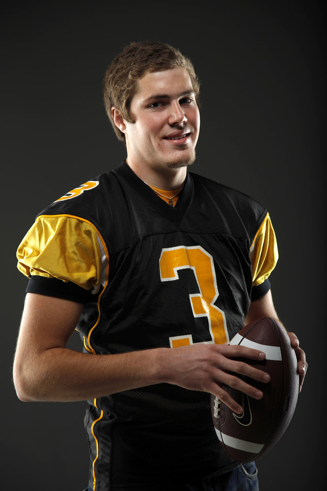 All-State football player Daniel Schwarz, of MacArthur, poses for a photo in Oklahoma CIty, Wednesday, Dec. 14, 2011. Photo by Bryan Terry, The Oklahoman