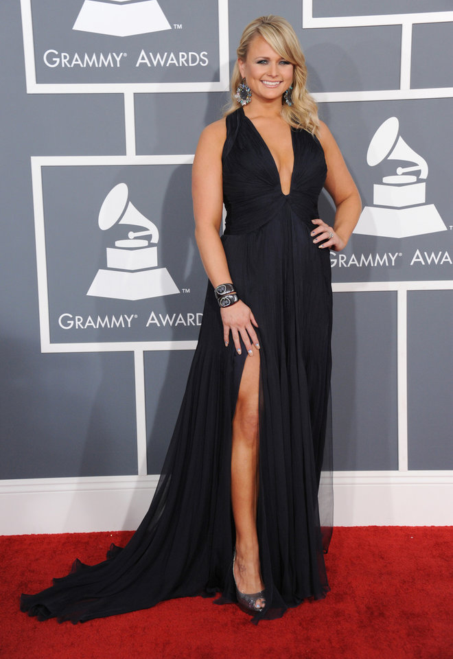 Photo - Miranda Lambert arrives at the 55th annual Grammy Awards on Sunday, Feb. 10, 2013, in Los Angeles.  (Photo by Jordan Strauss/Invision/AP)