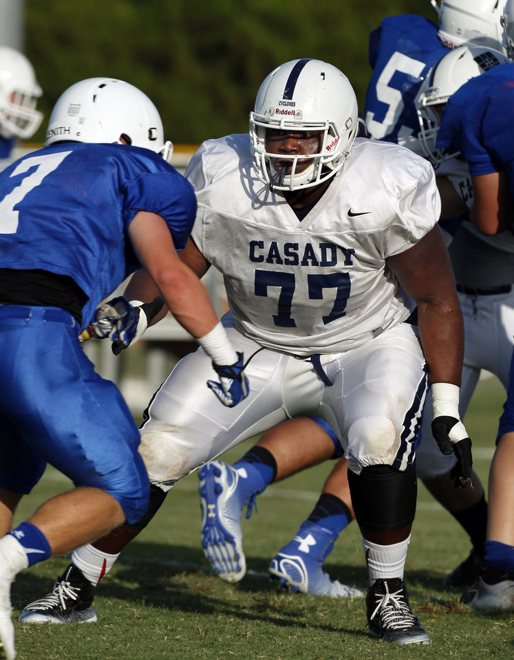 Photo -   JOSH WARIBOKO-ALALI     * Offensive lineman | Casady |  @JoshuaJ45        * Class:  Senior    * Height, weight:  6-foot-3, 310 pounds    * College choice:  Considering Oklahoma, UCLA, Louisville, Ohio State and others     * More on Wariboko-Alali:   VIDEO: Wariboko-Alali selected to Under Armour All-America Game            PHOTO BY JOEY JOHNSON, for the Tulsa World