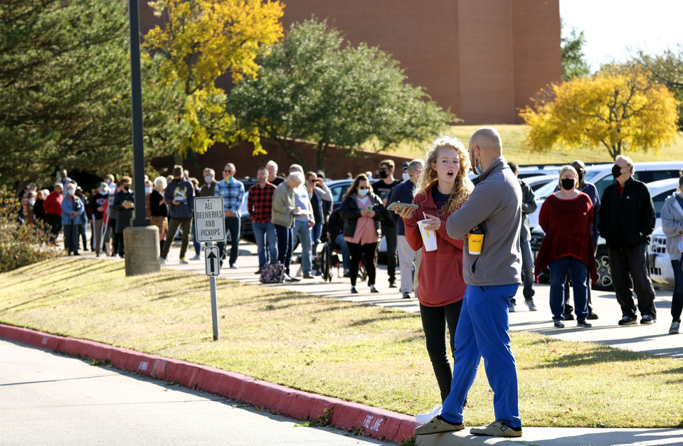 Photo - Election Day voting at Oklahoma Christian University in Edmond, Tuesday, November 3, 2020. [Doug Hoke/The Oklahoman]
