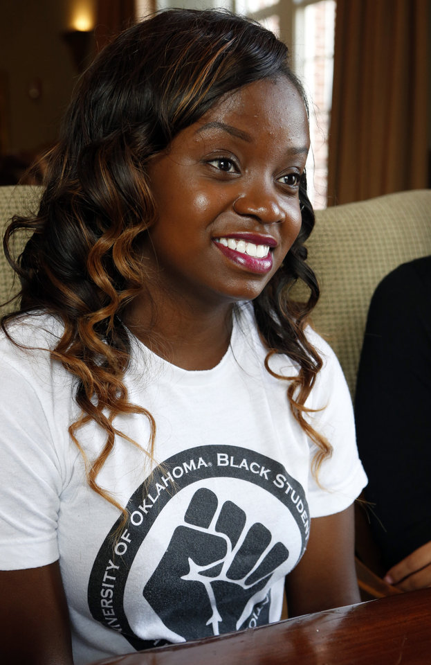 Photo -  Naome Kadira, president of OU Black Student Association
