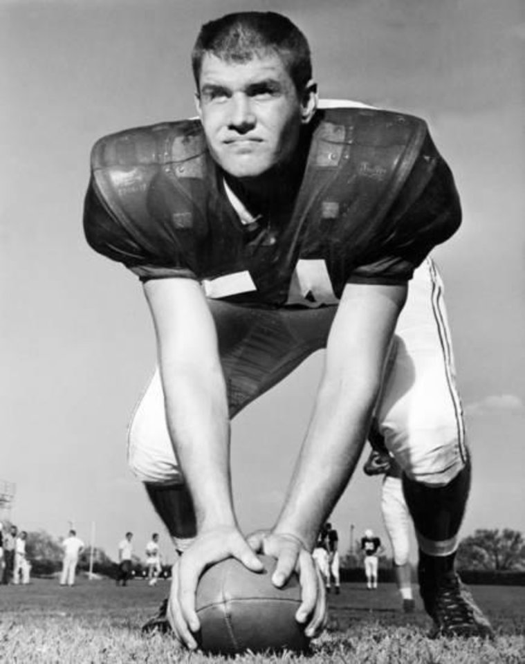 Photo - Bob Harrison was an all-American center/linebacker on the 1958 OU football team. (Oklahoman archive photo)
