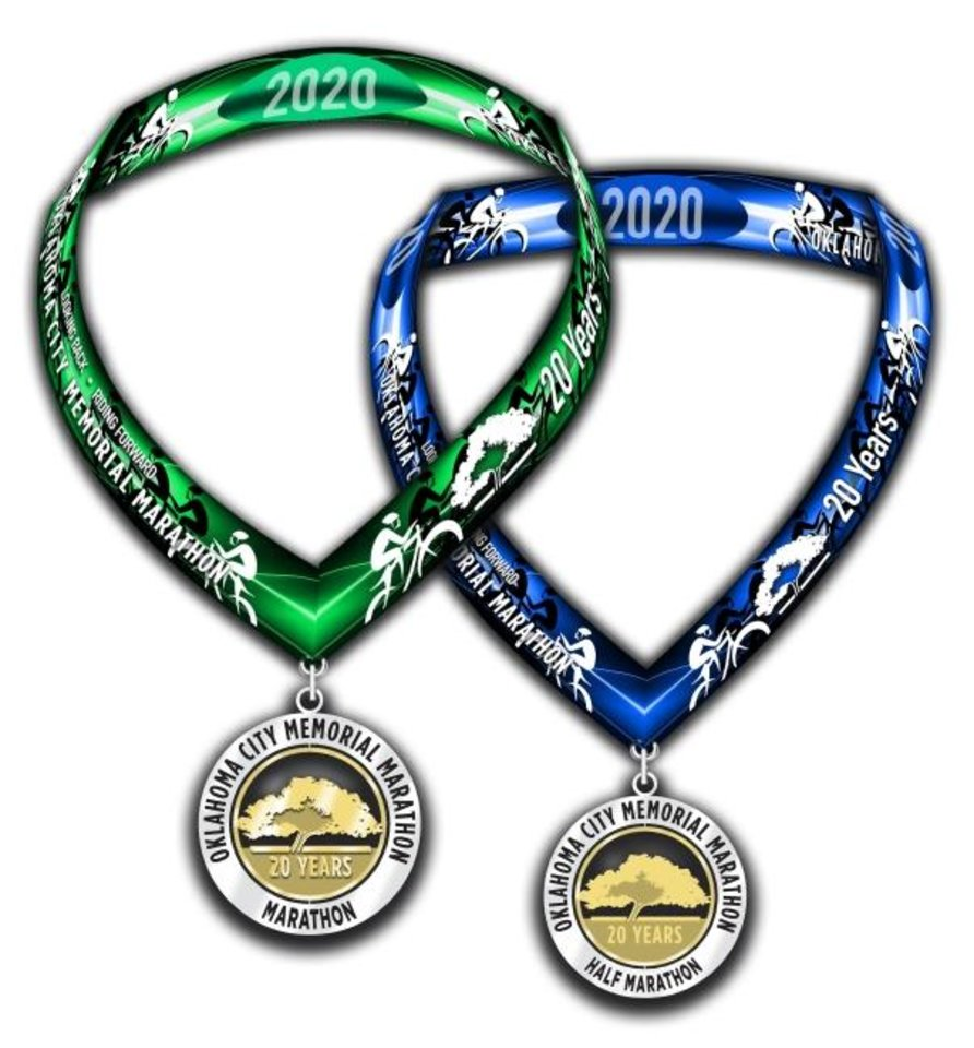 Photo -  Special commemorative ribbons have been designed for the bicycle participants in this year's virtual Memorial Marathon. [PHOTO PROVIDED]