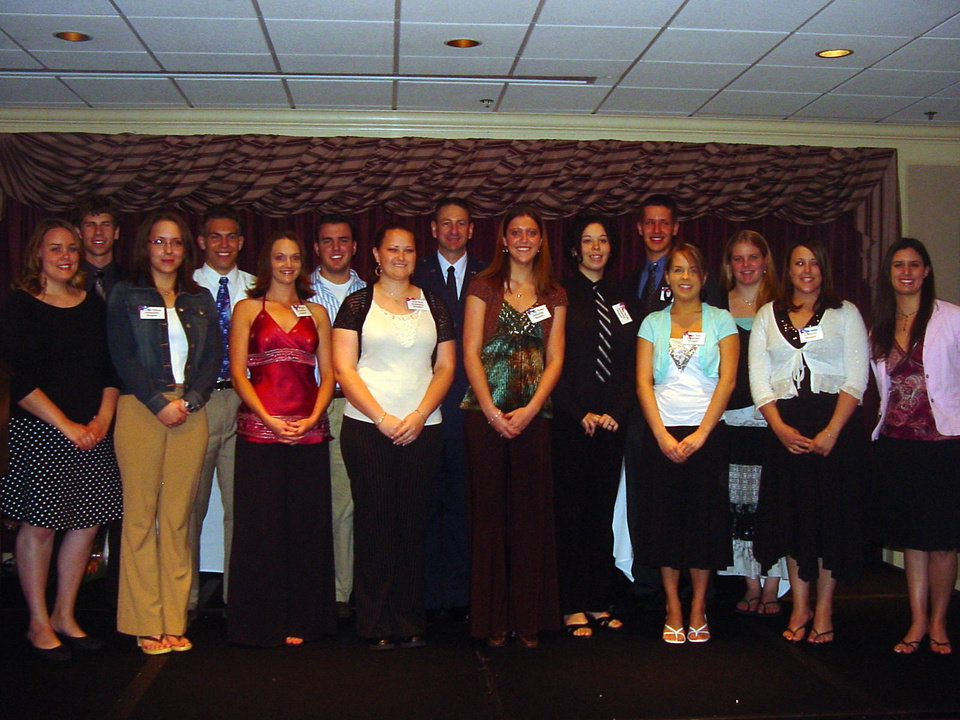 Tinker OSC Scholarship Winners: Back row, left to right: Adam Wade DeToy, James Alexander 