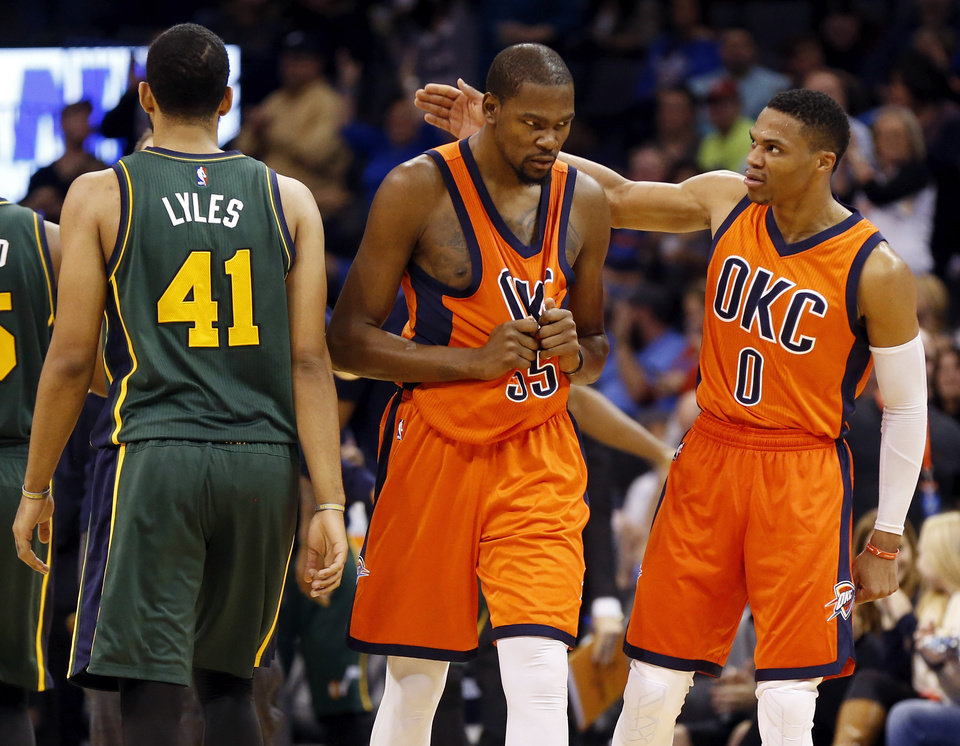 OKC Thunder: Kevin Durant, Russell Westbrook close out big ...