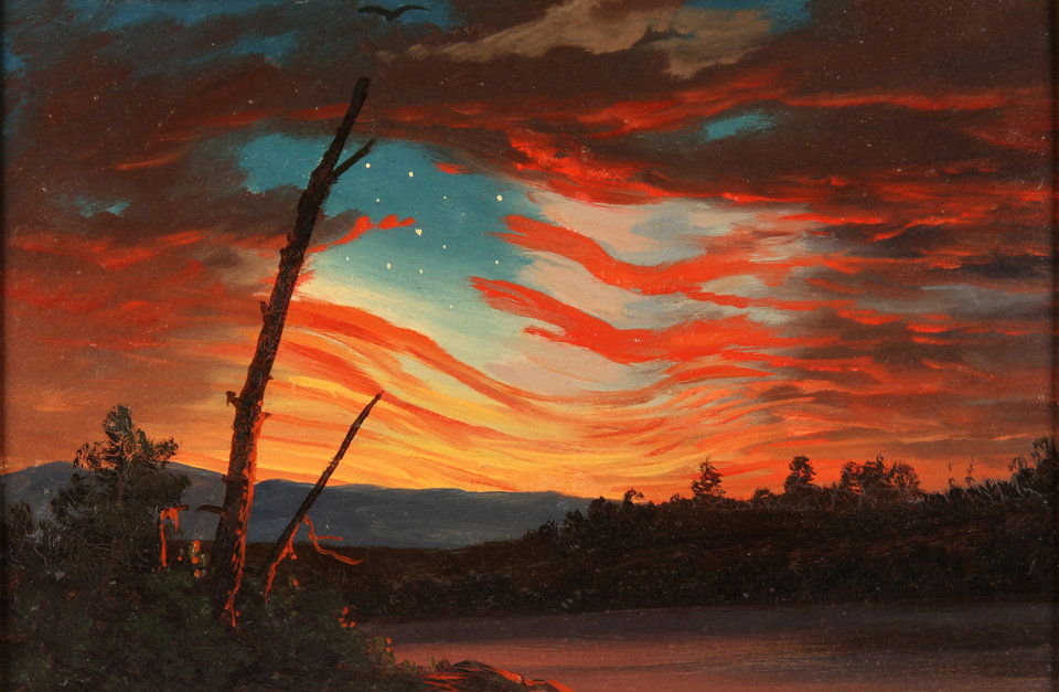 Photo -   This undated handout image provided by the Smithsonian American Art Museum shows Frederic Edwin Church's, 1861 oil on paper,