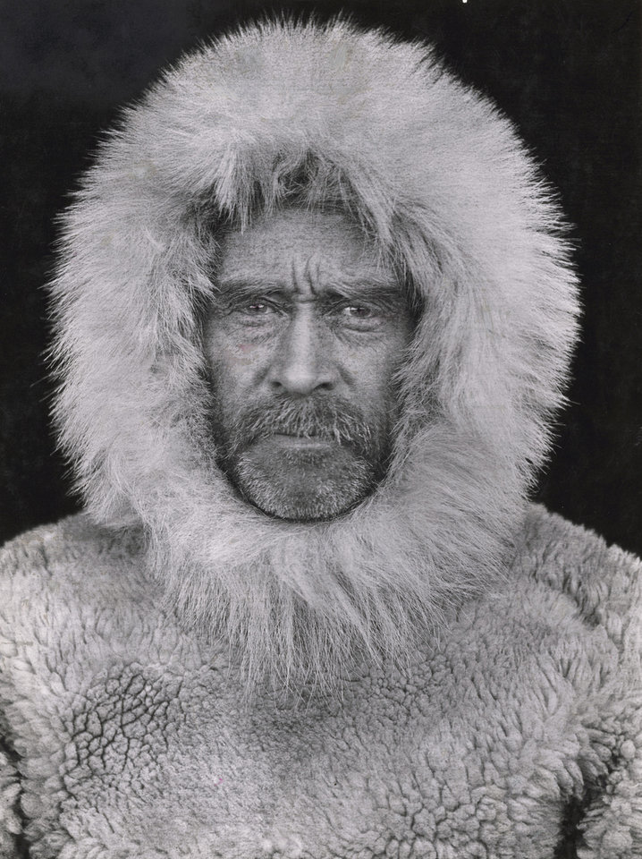 Photo -   This 1908 photo made by an unidentified photographer and provided by National Geographic via Christie's Auction House, is a portrait of Arctic explorer Adm. Robert E. Peary in Cape Sheridan, Canada. The photo is among a small selection of the National Geographic Society's most indelible photographs that will be sold at Christie's next month at an auction expected to bring about $3 million.(AP Photo/National Geographic via Christie's Auction House. (AP Photo/National Geographic via Christie's Auction House)