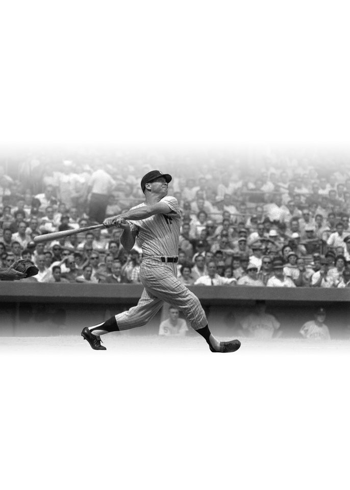 Photo - Mickey Mantle of the New York Yankees at bat.