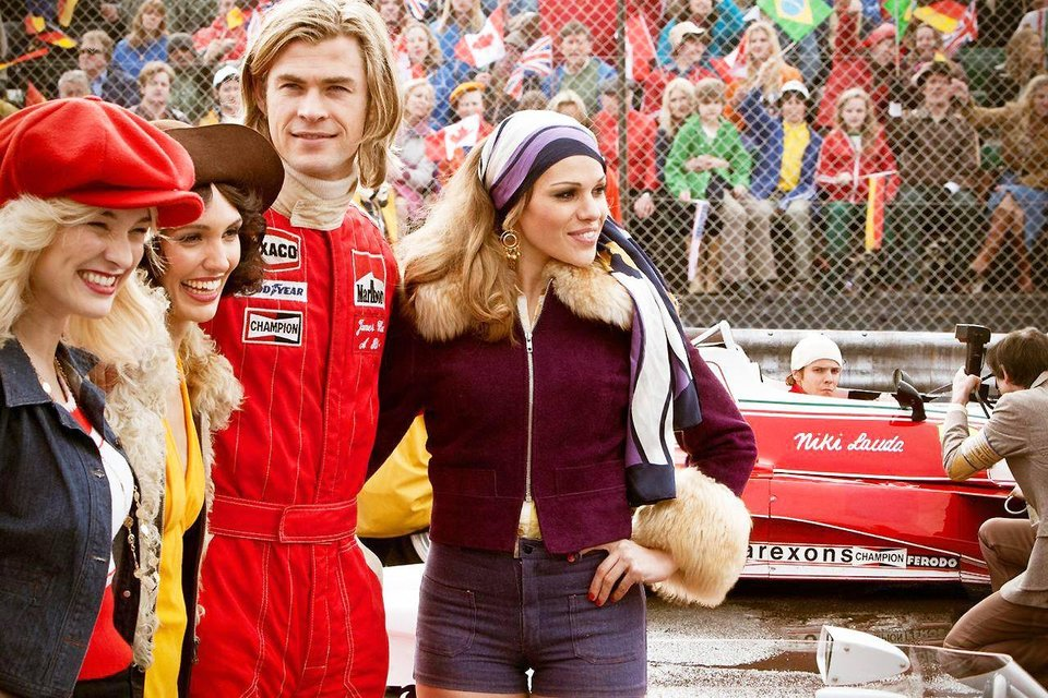 "Chris Hemsworth plays English Formula 1 race driver James Hunt in Ron Howard's racing biopic ""Rush."" Universal Pictures photo <strong></strong>"