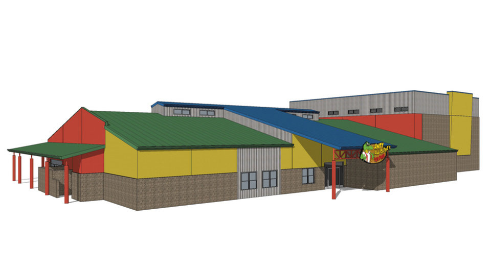 Photo -  Expansion plans at Andy Alligator's Fun Park in Norman include a new 8,000-square-foot building. Drawing provided