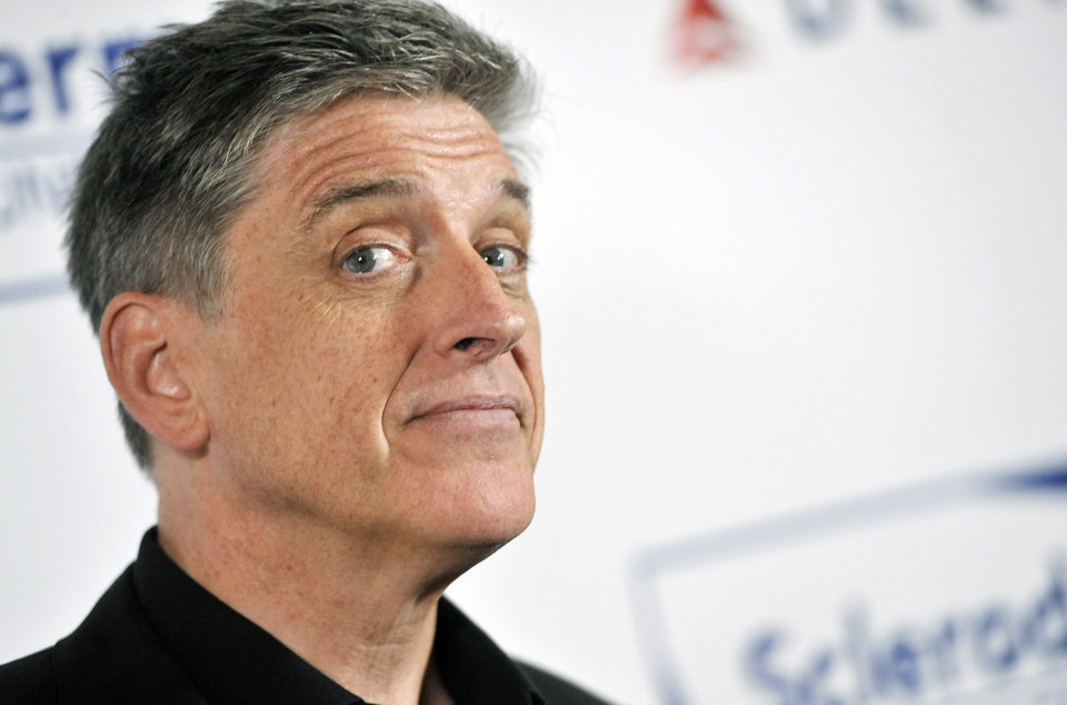 Photo - FILE - In this Tuesday, April 30, 2013, file photo, comedian Craig Ferguson poses at the Cool Comedy's Hot Cuisine Benefit for the Scleroderma Research Foundation at the Four Seasons Hotel in Beverly Hills, Calif. Ferguson, the Scottish-born host of