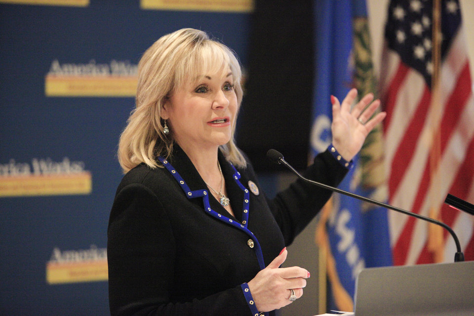 Photo - Gov. Mary Fallin. Photo by Paul B. Southerland, The Oklahoman