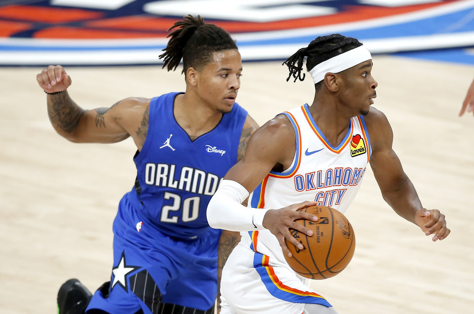 Photo - The Thunder and Magic will face off for the second and last time this seaseon. [Sarah Phipps/The Oklahoman]