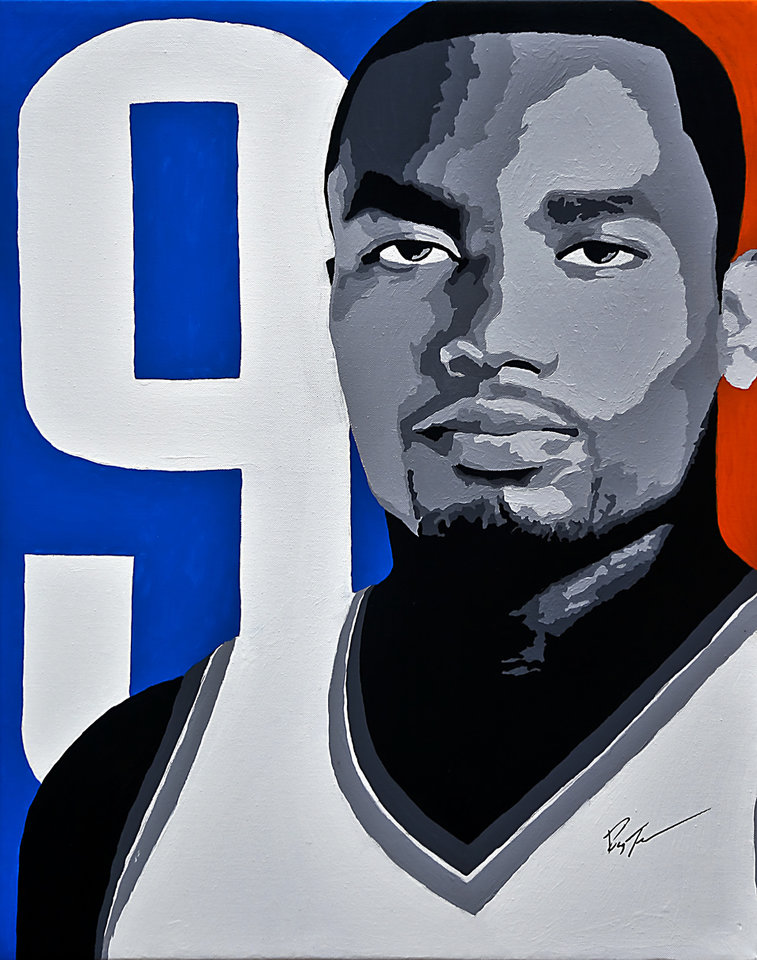 Photo - The Thunder's Serge Ibaka had 241 blocks during the 2011-12 season. The 6-foot-10 Ibaka had 198 blocked shots two seasons ago. ART BY RAY TENNYSON/photo by Chris Landsberger