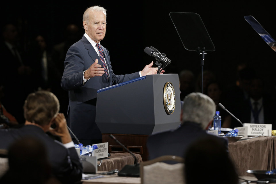Photo - Vice President Joe Biden speaks at the National Governors Association convention Friday, July 11, 2014, in Nashville, Tenn. (AP Photo/Mark Humphrey)