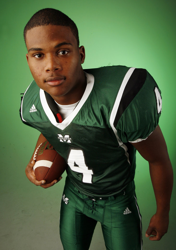 Jameel Owens, Muskogee, poses for a photo in the OPUBCO studio for The Oklahoman's All-State Football Team, in Oklahoma City, Wednesday, Dec. 12, 2007. By Nate Billings, The Oklahoman