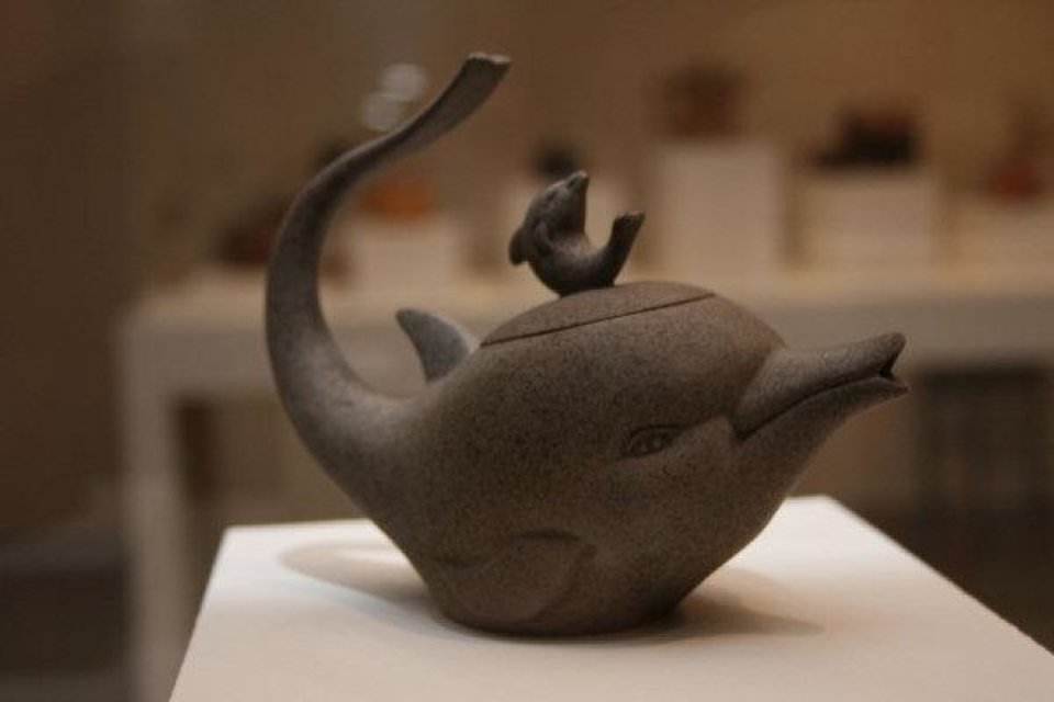 A Chinese teapot in the shape of a dolphin.   Photo courtesy of the Phoenix Art Museum <strong>unknown</strong>