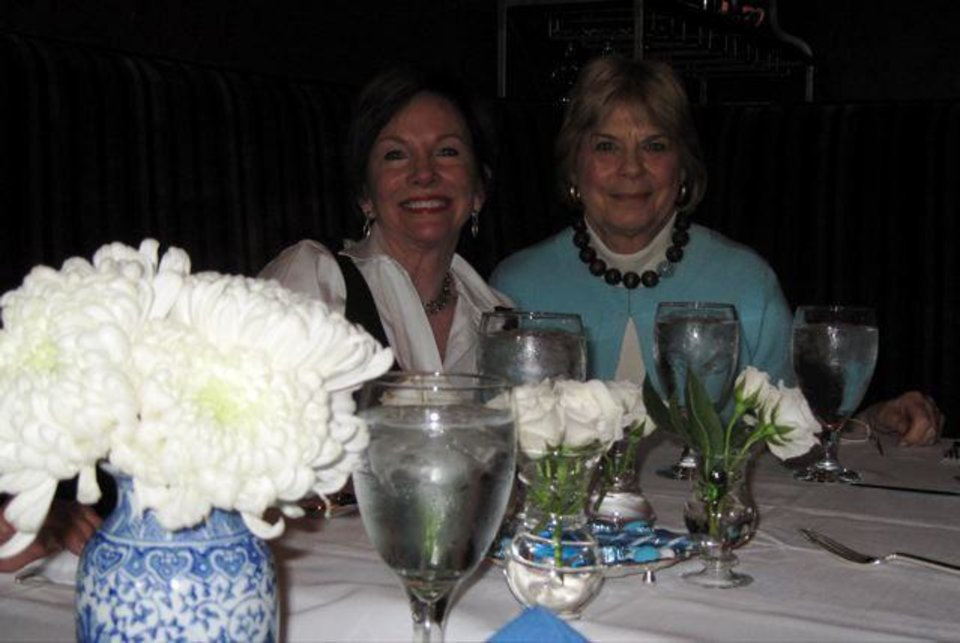 HAPPY BIRTHDAY GRENDA....Susan Sigmon and Kathy Rodgers are ready for  lunch. ( Photo by Helen Ford Wallace).