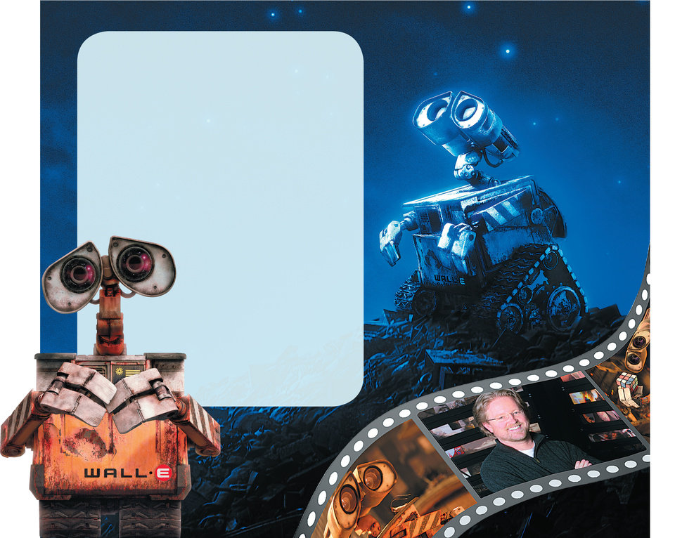Photo - WALL-E GRAPHIC / ILLUSTRATION with photos, from left: 1) and 2)