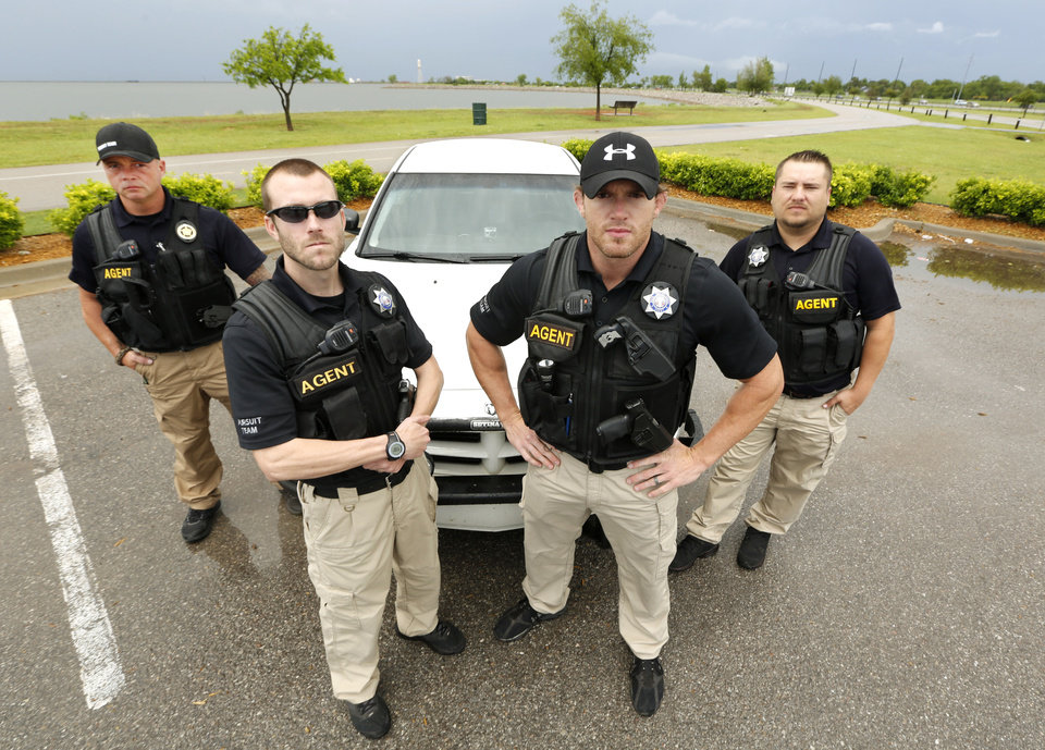 Members of Pursuit Team OKC, left to right, Mike Parsons, Eric London, Ryan Lopez and Tjay Nikkel. <strong>Steve Gooch - The Oklahoman</strong>