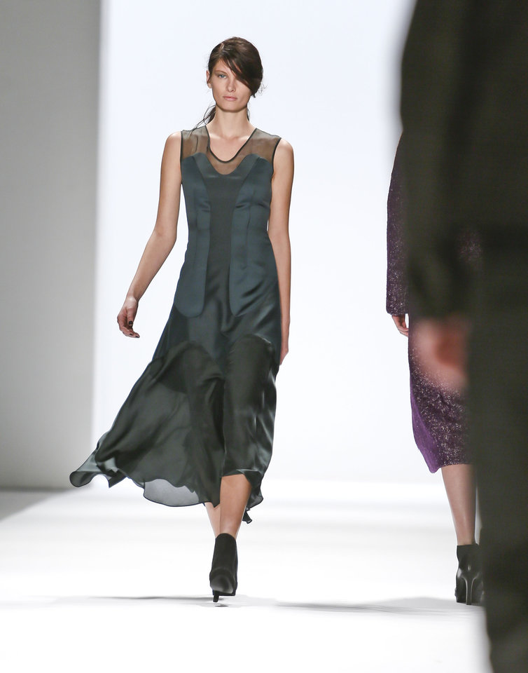 Photo - Fashion from the Fall 2013 collection of Richard Chai is modeled on Thursday, Feb. 7, 2013 in New York.  (AP Photo/Bebeto Matthews)