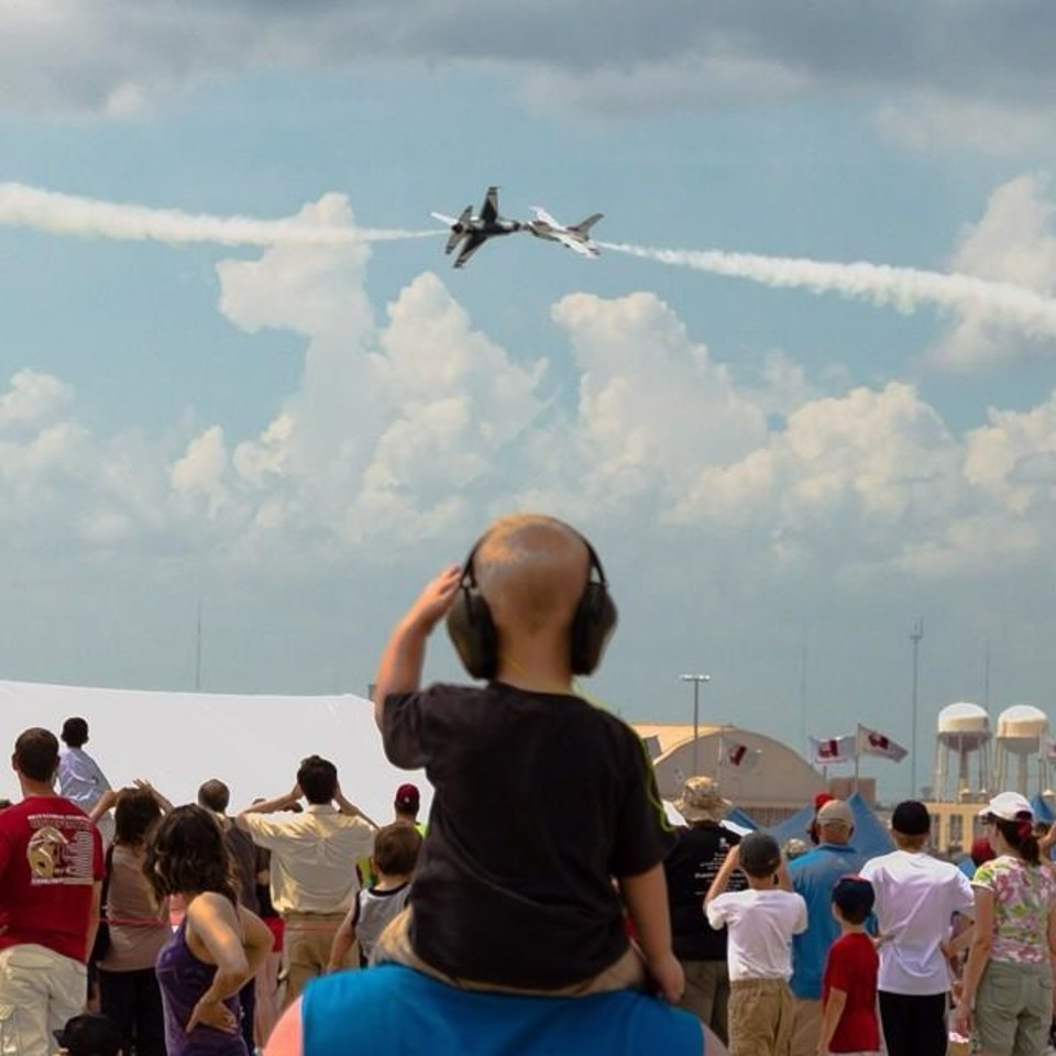 Tinker Air Show in Midwest City - Photo by Instagrammer @chronr