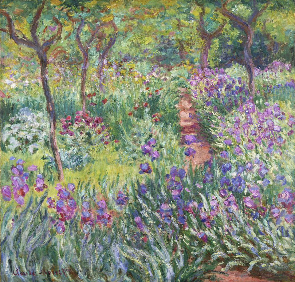 Photo - This undated photo provided by the New York Botanical Garden shows Claude Monet's painting,
