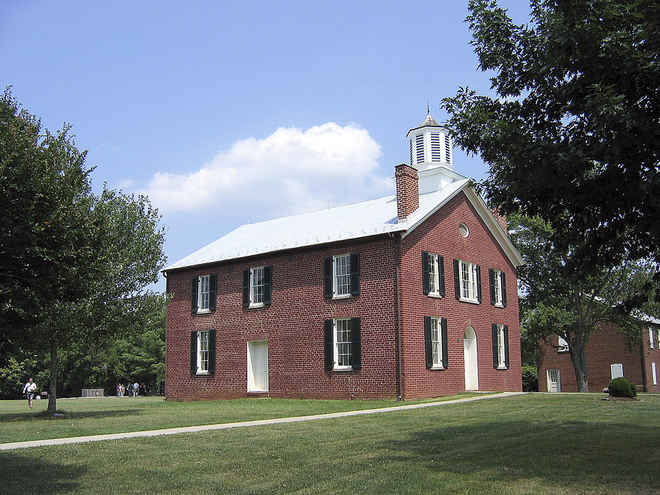 An 1822 courthouse in Brentsville, Va., was restored recently.  PHOTO BY RICK ROGERS, THE OKLAHOMAN