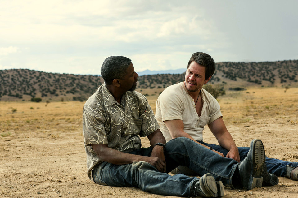 Photo - Denzel Washington, left, and Mark Wahlberg in a scene from