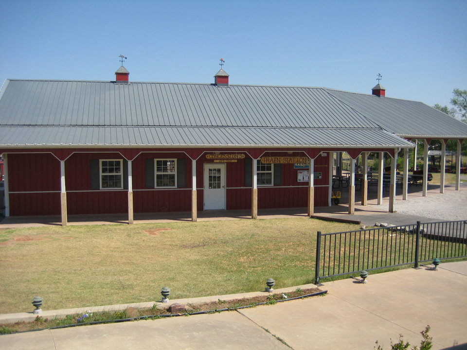 Photo - BEFORE: The train station at Orr Family Farm is shown before the tornado hit. PHOTO PROVIDED BY ORR FAMILY FARM.     - ORR FAMILY FARM