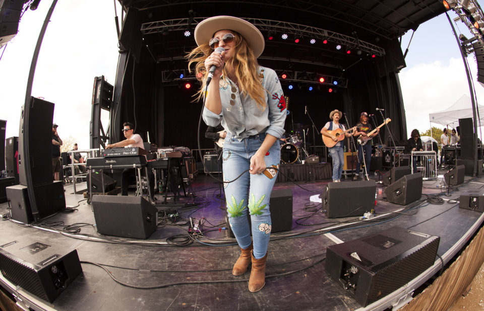 Photo -  Margo Price performs live at Willie Nelson's Spicewood Ranch in Texas. [Photo by Nathan Poppe, The Oklahoman]